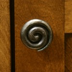 Bouton spirale poignée